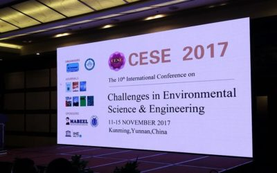"""本公司參加第十屆國際 """"環境科學與工程的挑戰研討大會(CESE-2017)"""",並發表論文 !"""