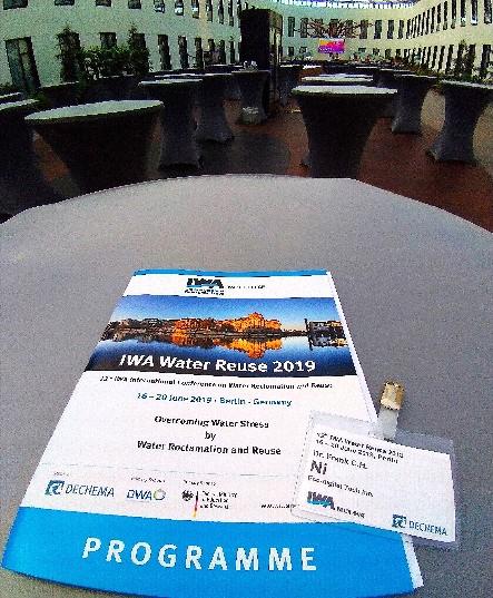 本公司參與於德國柏林(Berlin)舉辦之第十二屆國際水協會水回收再利用國際研討會(IWA-Water Reuse 2019),並發表成果論文!